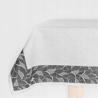 Obrus bieżnik nakładka 40x140cm szary biały BIANCA