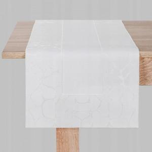 Obrus bieżnik biały nakładka 40x170cm serweta GRACE