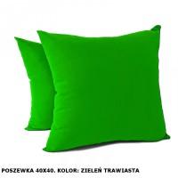 Poszewka na poduszkę Jasiek 40x40cm - zieleń trawiasta