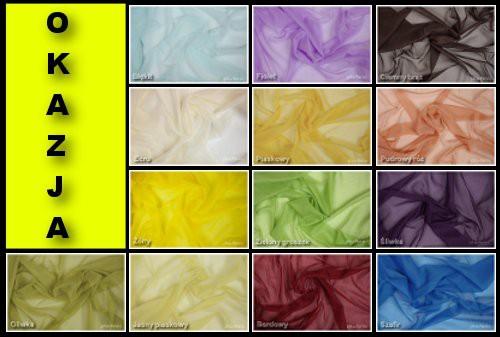 Woal Na Zasłony Dekoracje 150cm Dużo Kolorów