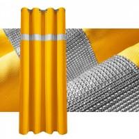 Zasłona gotowa maowa CYRKONIE 145x250cm PRZELOTKI - żółta