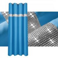 Zasłona gotowa maowa CYRKONIE 145x250cm PRZELOTKI - błękit