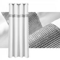 Zasłona gotowa maowa CYRKONIE 145x250cm PRZELOTKI - biała